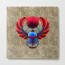 Colorful Egyptian Scarab Metal Print