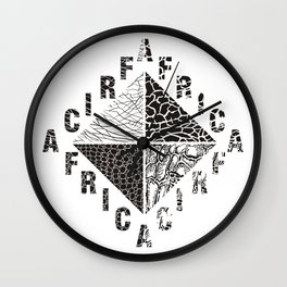Background from African wild animals Wall Clock