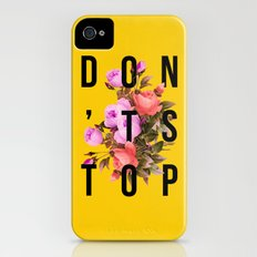 Don't Stop Flower Poster Slim Case iPhone (4, 4s)