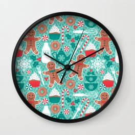 Gingerbread Christmas Treats Wall Clock