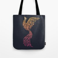 phoenix Tote Bags featuring Phoenix by Freeminds