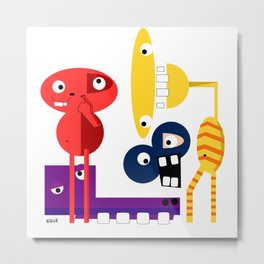A Group of Friends Metal Print