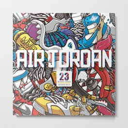 Jordan Sneaker Pattern illustration Metal Print