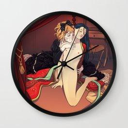 Geisha Doll Wall Clock