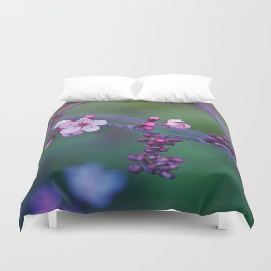 Dreamy purple Cherry Blossom Duvet Cover