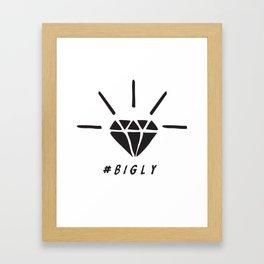 Trump Diamond #BIGLY by BenCapozzi Framed Art Print