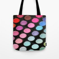 makeup Tote Bags featuring Makeup by Ink and Paint Studio
