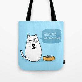 Wifi Cat Tote Bag