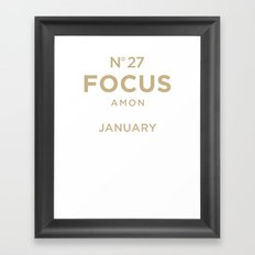 Know the Date! Framed Art Print
