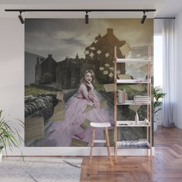 flying papers Wall Mural