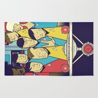 star Area & Throw Rugs featuring Star Trek by Ale Giorgini
