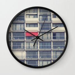 Red Awning Wall Clock