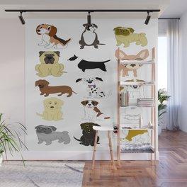 Pet dogs design Wall Mural
