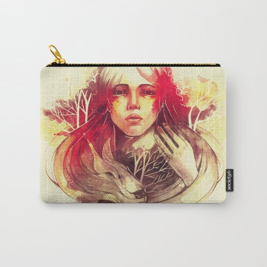 Purity In Red Carry-All Pouch