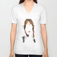 britney V-neck T-shirts featuring Britney by Bethany Mallick