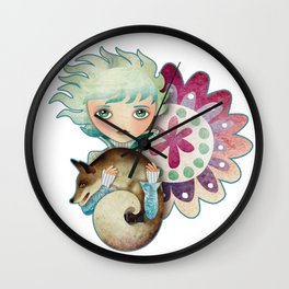 Wintry Little Prince Wall Clock