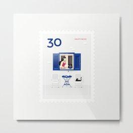 Stamp : Cities #2 - Santorini Metal Print