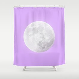 WHITE MOON + LAVENDER SKY Shower Curtain