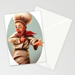 Scared Cook Stationery Cards