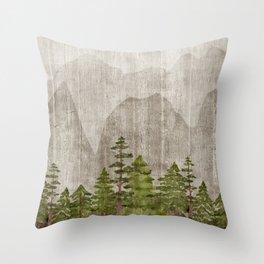 Mountain Range Woodland Forest Deko-Kissen