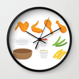 Wings and Dips Wall Clock