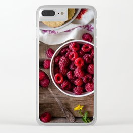 raspberries Clear iPhone Case