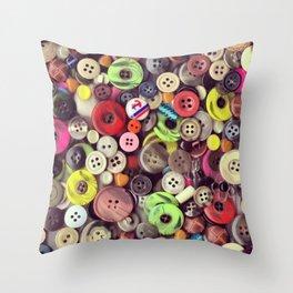 Button Jar Autopsy Throw Pillow