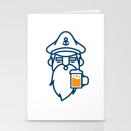 beard & beer  Stationery Cards