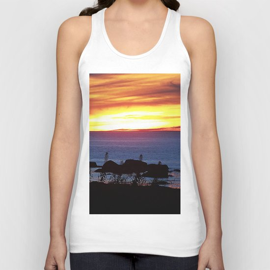 Sunset Swirling Clouds Unisex Tank Top