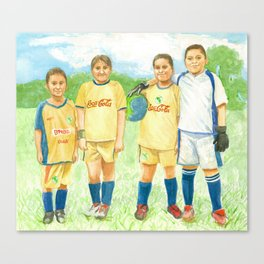 Soccer Kids Canvas Print