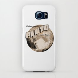 50s Postcard - love you to pluto and back iPhone Case