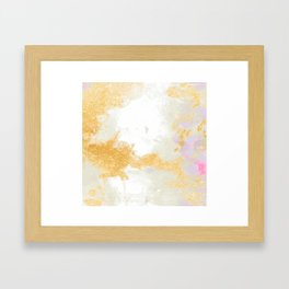 Texture of gold and Gray Framed Art Print