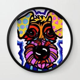 Rover Terrier Dog Airedale Wheaton Lakeland Kerry Schnauzer Fox Puppy Pet Animal Wall Clock