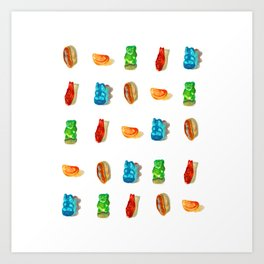 Gummies 2 Art Print