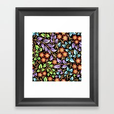 Filigree Flora Framed Art Print