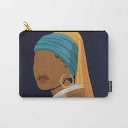 Girl With a Bamboo Earring Carry-All Pouch
