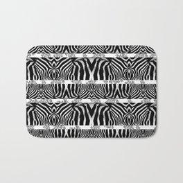 Zebra Stripe Pattern Bath Mat
