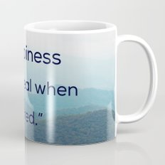 Happiness is only real when shared Mug