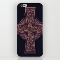 celtic iPhone & iPod Skins featuring Celtic Cross by pakowacz