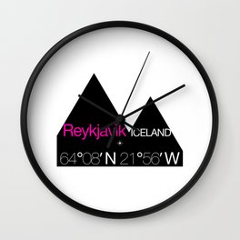 Reykjavik Boulevard #01 Wall Clock