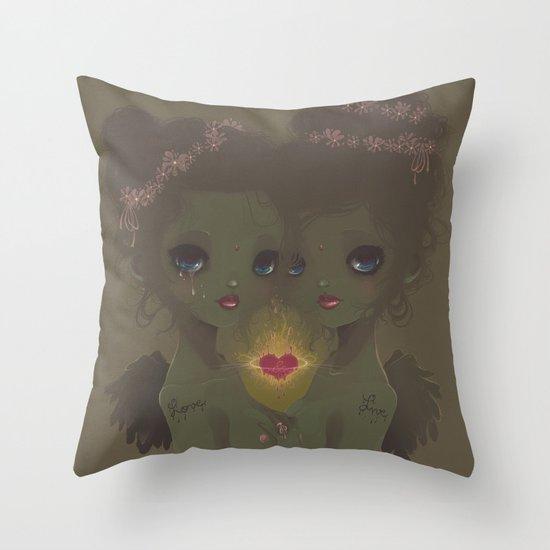 Love & Live Throw Pillow