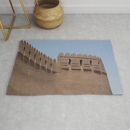 Tower Yazd City Walls Castle, Persia, Iran Rug