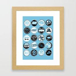 ALL CAPS Framed Art Print
