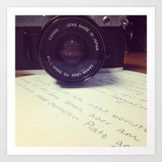 die Filmkamera Art Print