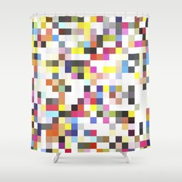 Love Pixel Shower Curtain