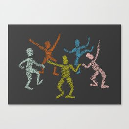 Dance fever Canvas Print
