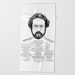 Jaws Dr Hooper Ink'd Series Beach Towel