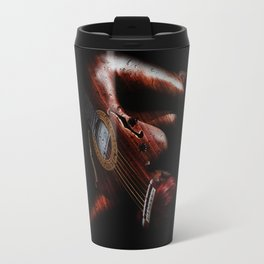 Guitar Woman Travel Mug