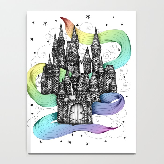 Super Magic Rainbow Dream Castle Notebook
