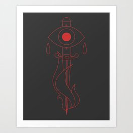 Marked by Fire Art Print
